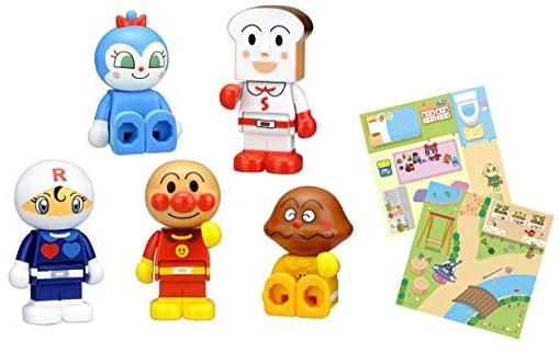 ブロックラボ ブロックといっしょに遊べる! わいわいブロックドールセット(アンパンマン・ワールドブロックシリーズ)2