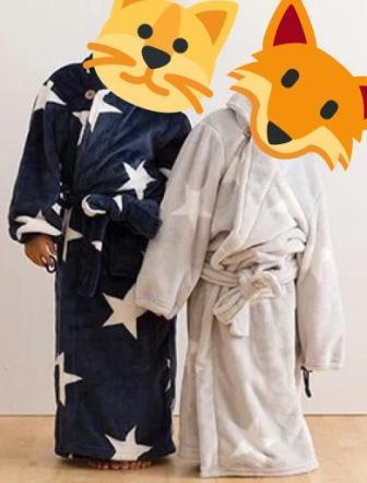 モフア子供用の着る毛布