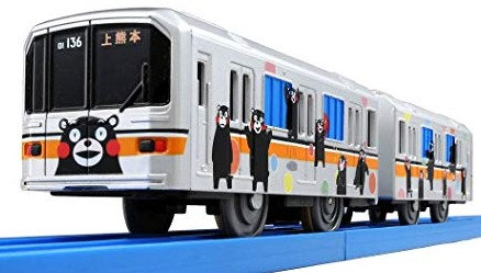 熊本電鉄01形ラッピング電車 (くまモンバージョン)