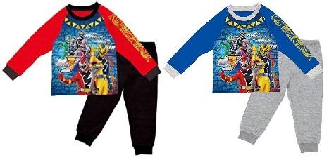 BANDAI リュウソウジャー 寝ても覚めても光るパジャマ赤と青